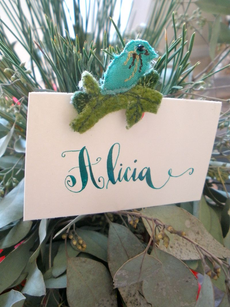 Bird placecard