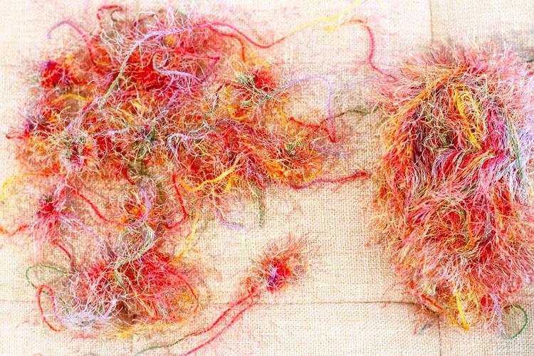 Pom pom yarn