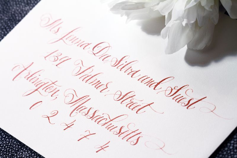 Designsgirl calligraphy for 6 degrees salon portsmouth nh