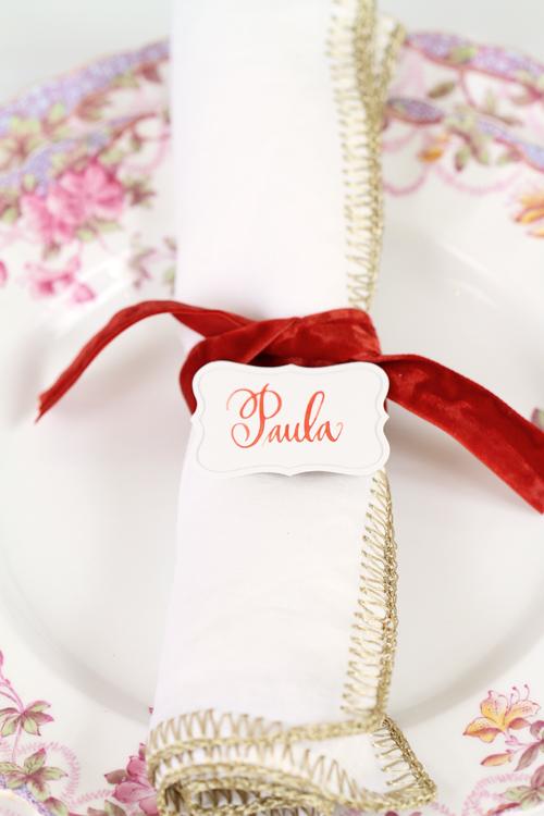 Velvet napkin ring
