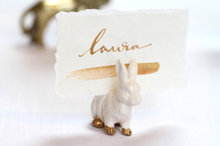 Rabbit place card